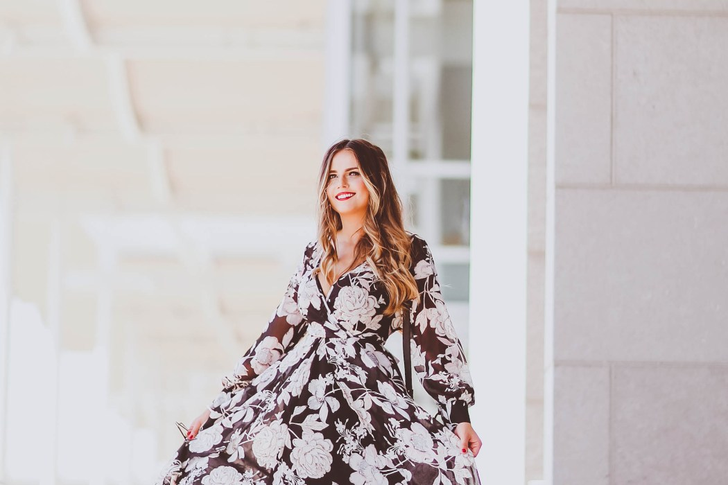 #OOTD // My Birthday Black Floral Maxi Dress | BondGirlGlam.com