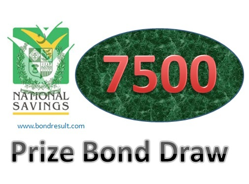 Prize Bond Draw List of RS 7500 Lahore full list
