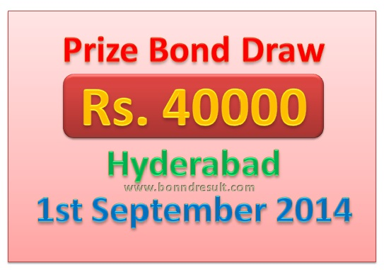 Hyderabad RS 40000 Prize Bond Draw Complete List 01-09-201