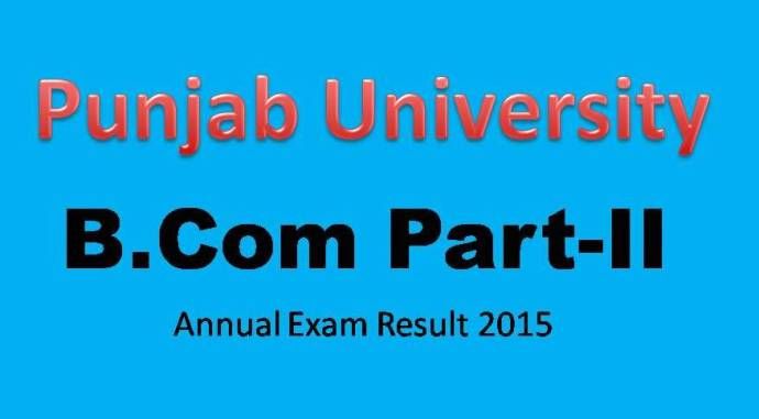 Punjab University PU B.Com Part 2 Result 2015