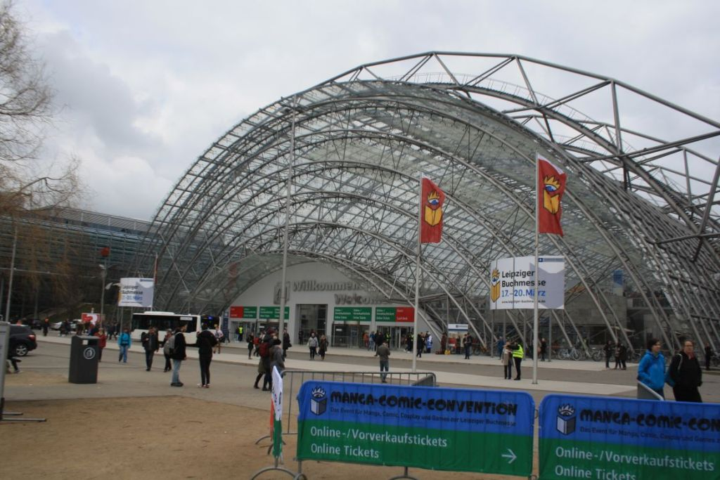 Die Glashalle des Leipziger Messegeländes
