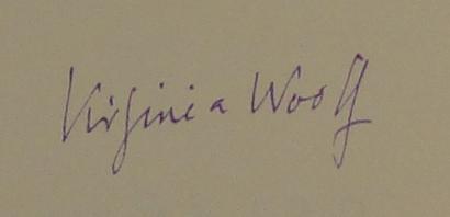 Virginia Wolfe Signature
