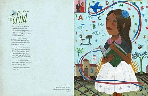 The Child by J. Patrick Lewis, illustrated by Tonya Engel