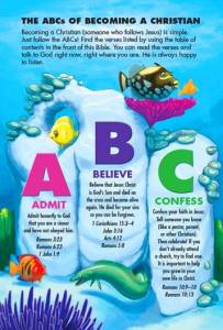 Under the Sea Bible ABCs of Becoming a Christian
