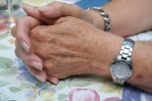 Hands Clasped Old Woman Free Use