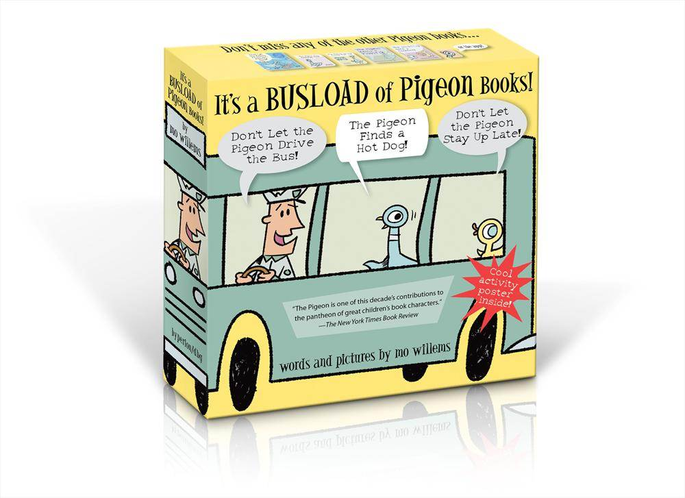 It's a Busload of Pigeon Books!