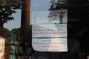 P.T. Barnum Display | Byrd's Books, Bethel, CT