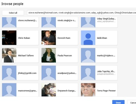 how to find someone on google plus by email