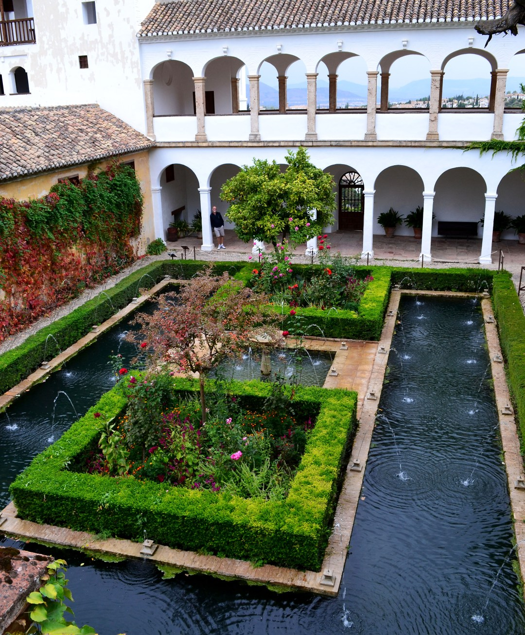 Generalife World Heritage Site reservoir pool