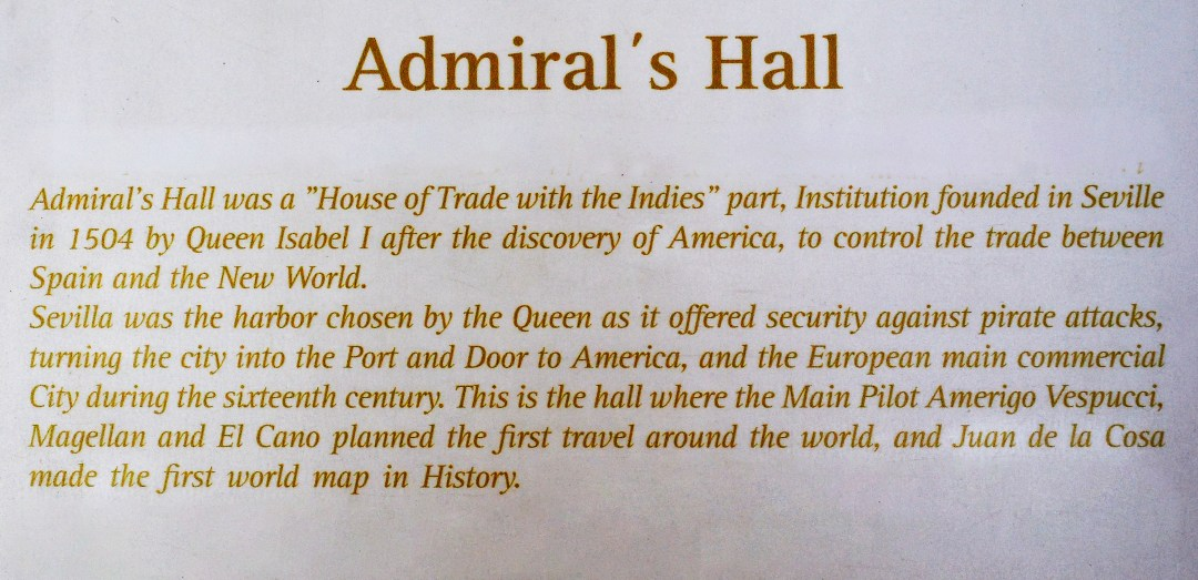 Admiral's Hall in the World Heritage Alcazar