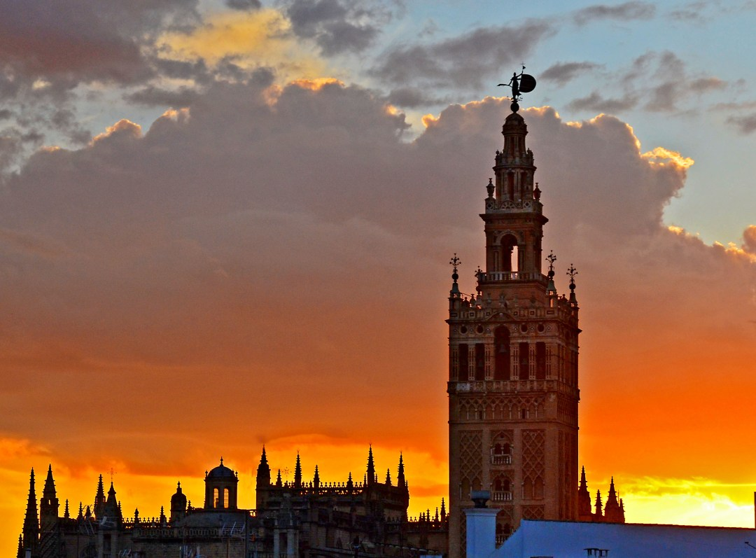World Heritage Seville Cathedral at sunset
