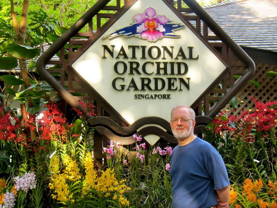 The Orchid Garden in the Singapore Botanic Gardens