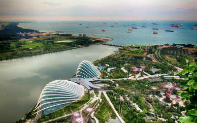 HDR view from Marina Bay