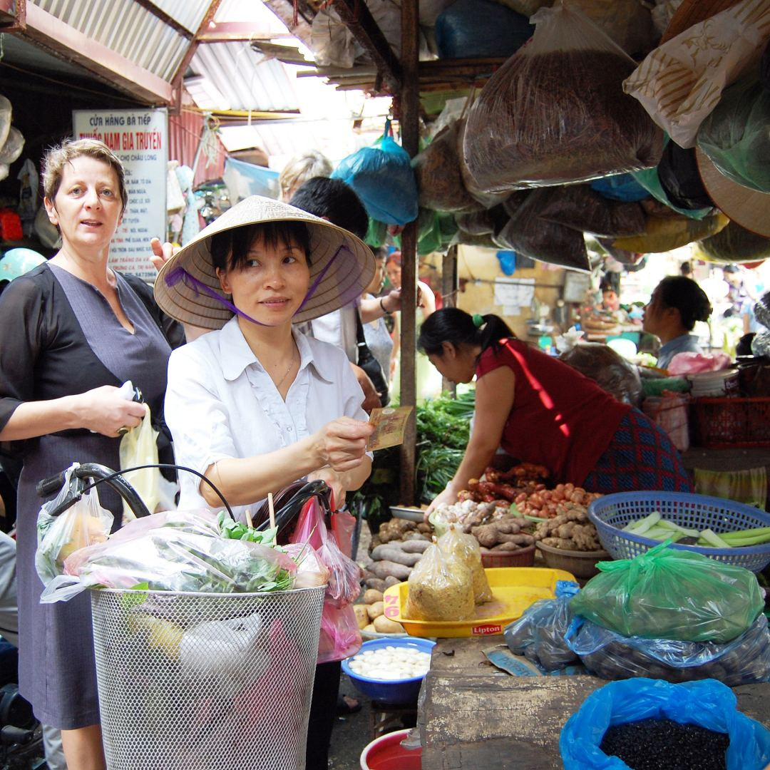 Traditional market in Hanoi
