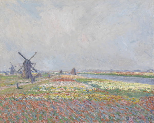 Tulip Fields Near the Hague by Claude Monet