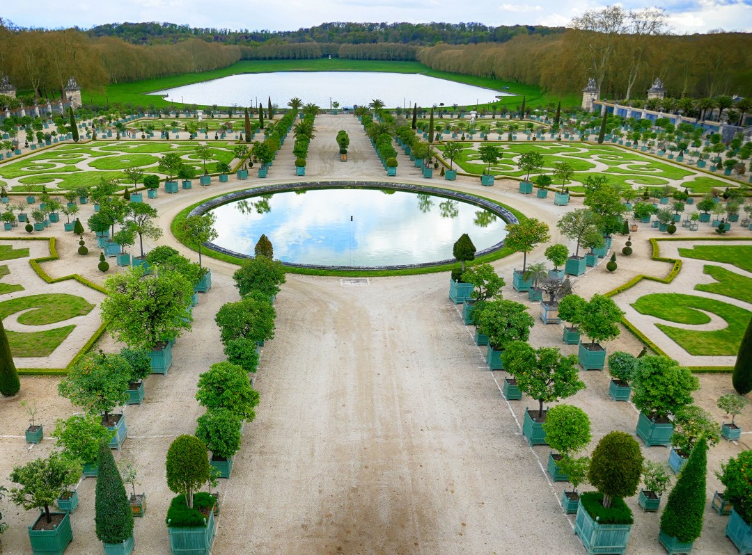 Enjoy the sweeping vistas in the Gardens at the Palace of Versailles