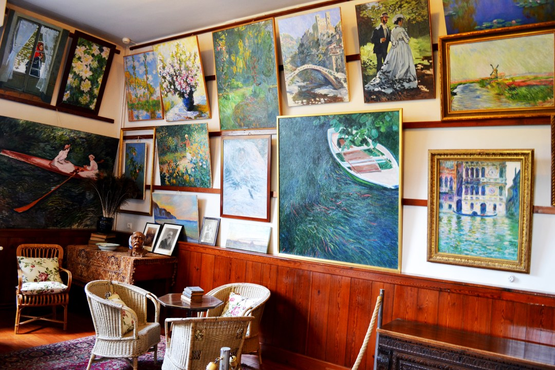 Monet's living room in Giverny