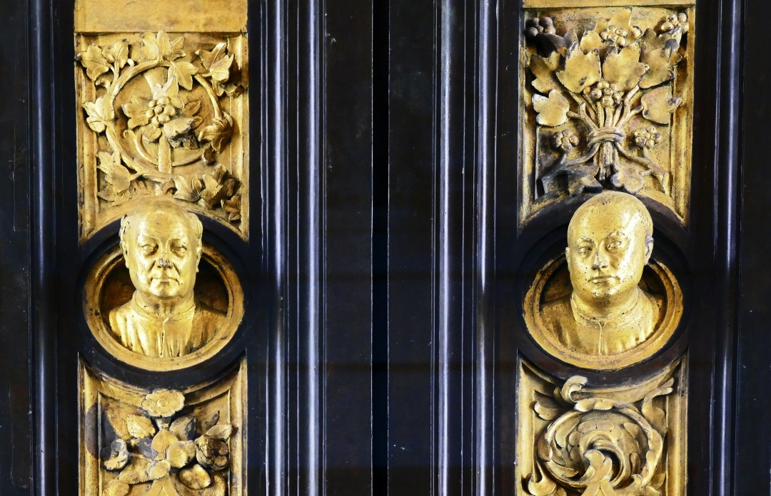 Selfie of Ghiberti in his Gates of Paradise