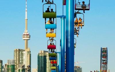 Gondola ride at the CNE in Toronto