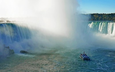 Maid of the Mist under Niagara Falls