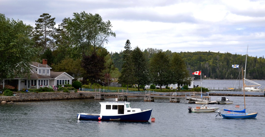 Sailboats in Chester in Nova Scotia