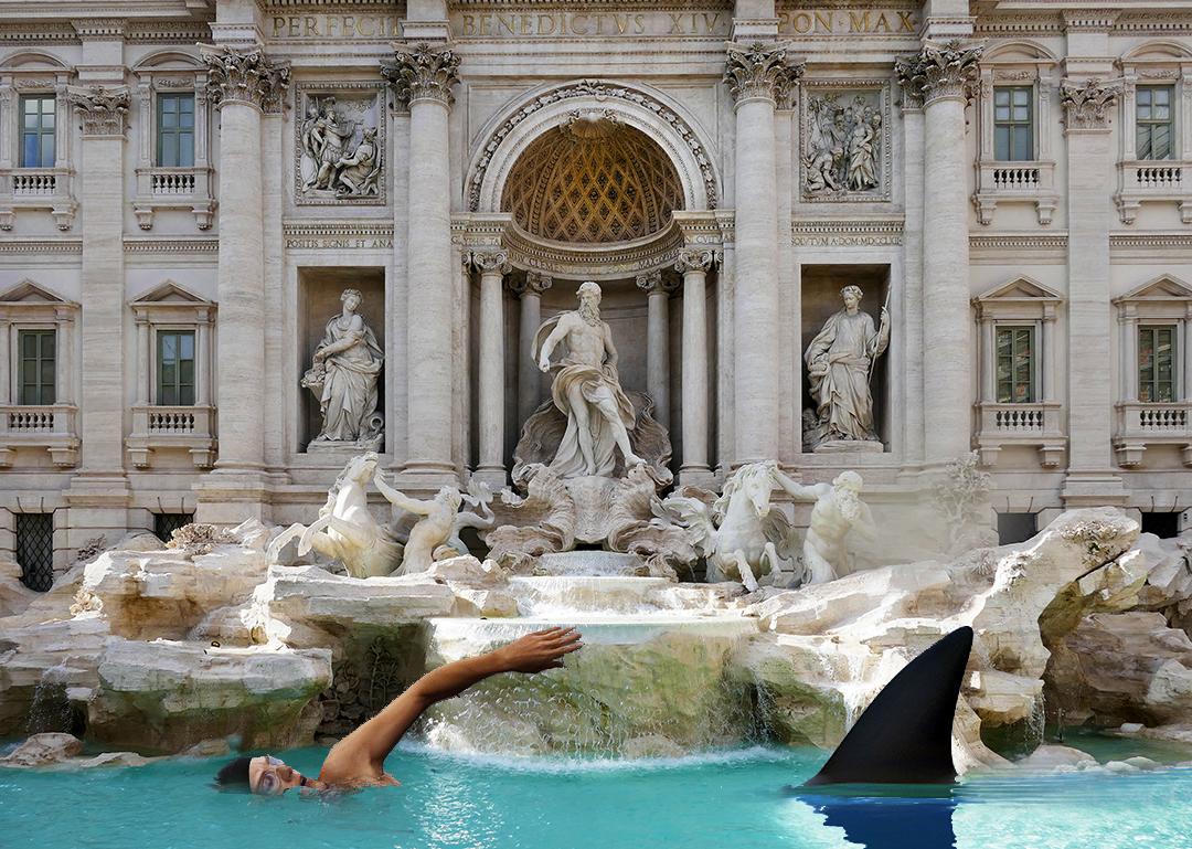 No Swimming in the Trevi Fountain in Rome