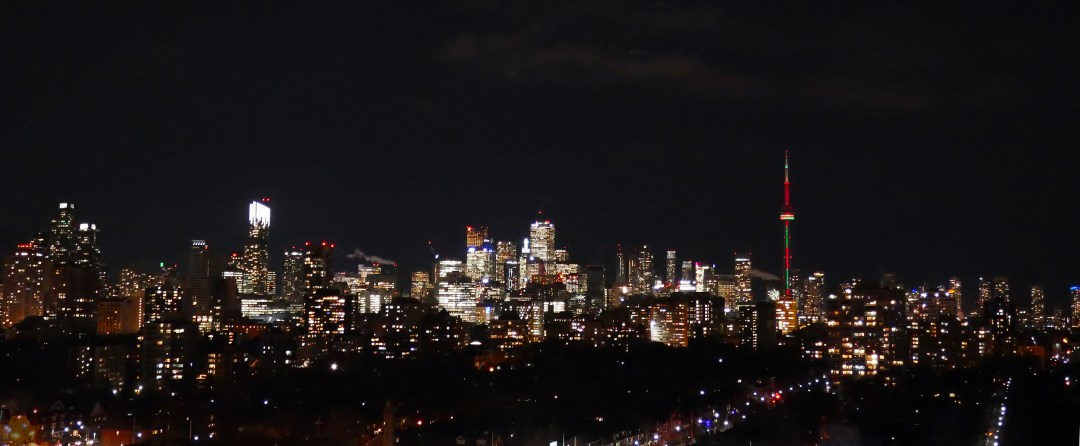 View of Toronto skyline from turret in Casa Loma
