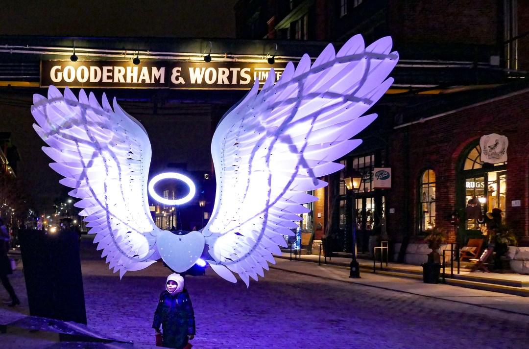 Angel wings for Toronto light festival for boomervoice