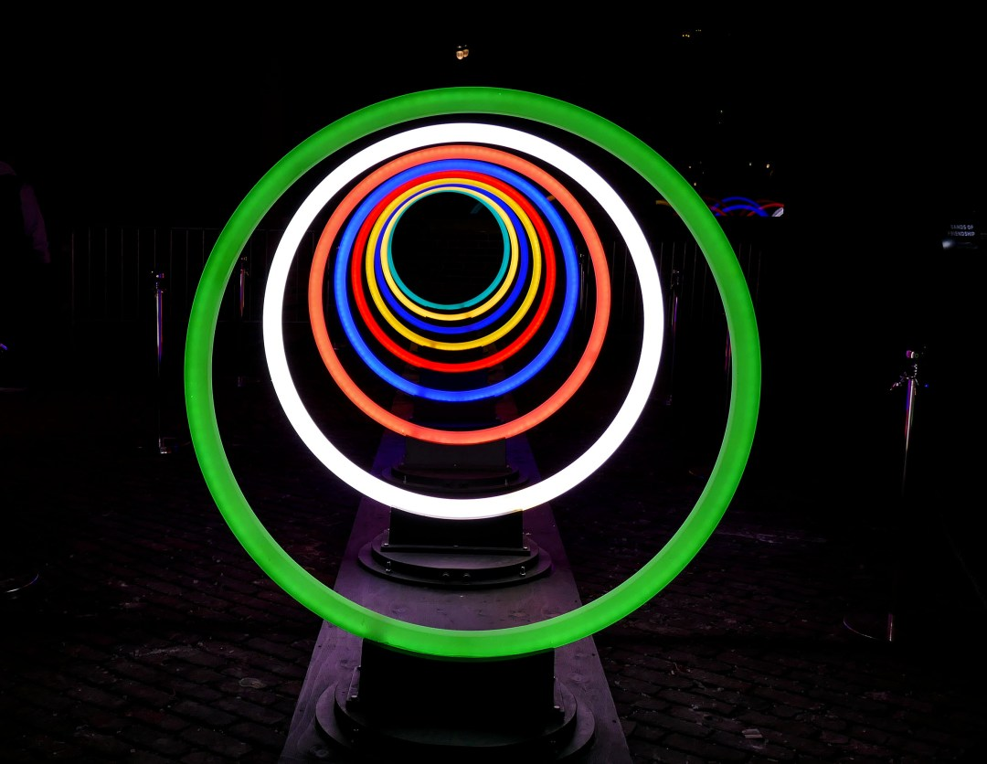Light rings for Toronto light festival for bomervoice