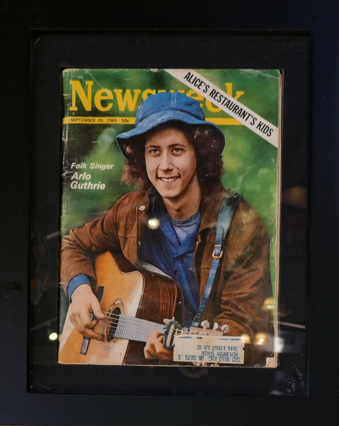 Arlo Guthrie on Newsweek cover for boomervoice