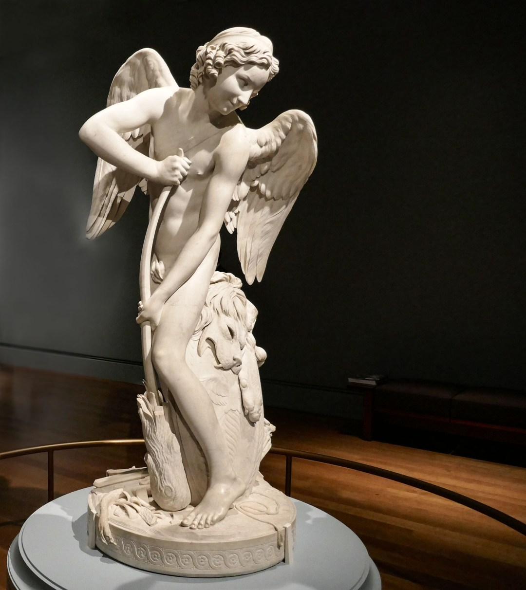 Bouchardon's cupid at the Getty Center for boomervoice