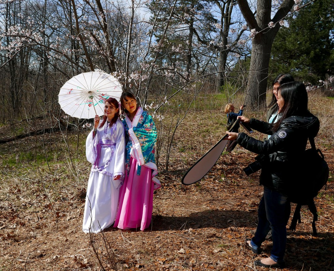 Traditional Japanese dress photoshoot in High Park for boomervoice
