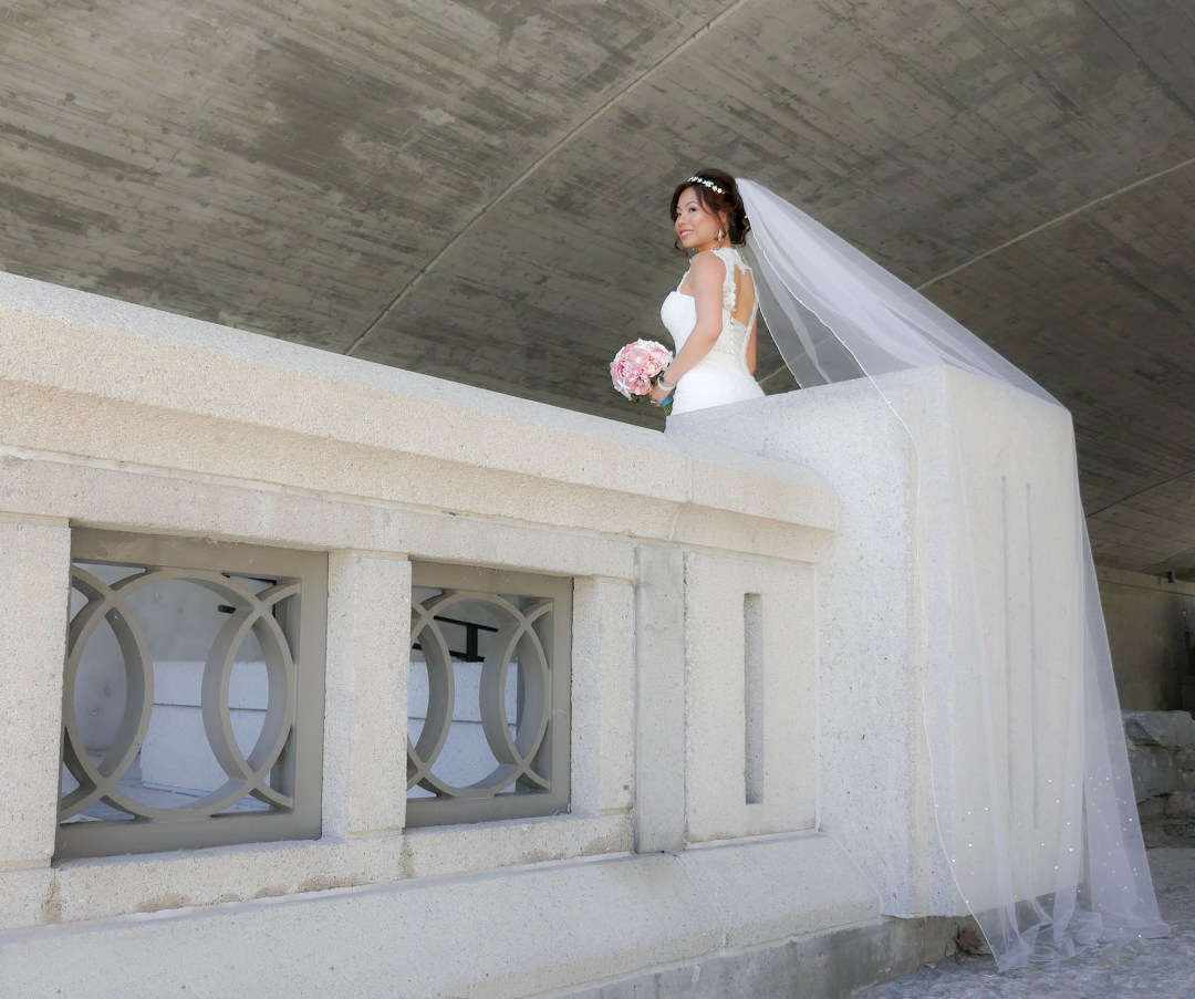 Bride at Rideau Canal for boomervoice