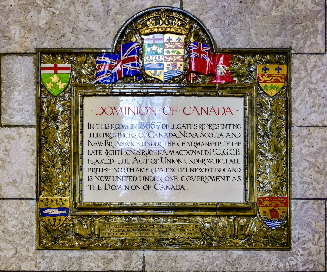 Dominion of Canada plaque for boomervoice
