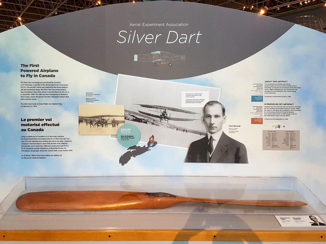 Silver Dart display at the Canadian Aviation and Space Museum for boomervoice