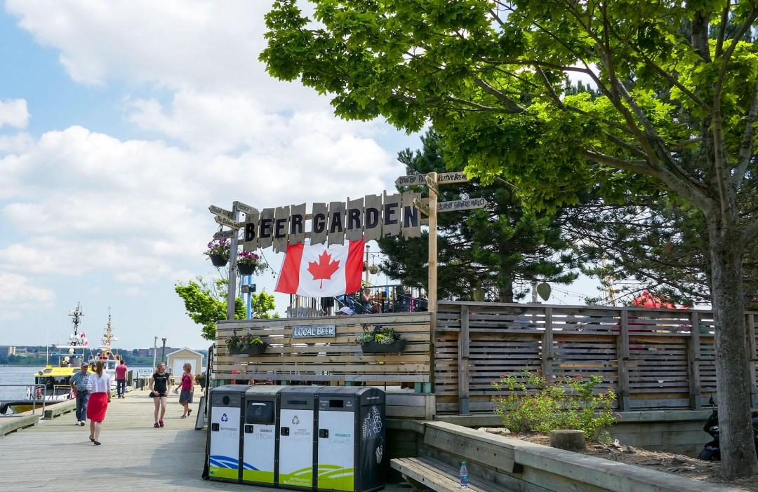 Halifax Waterfront Beer Garden for boomervoice