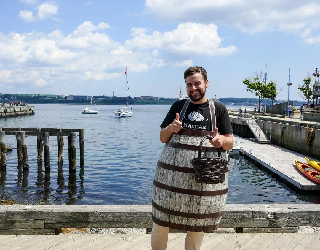 Halifax Waterfront Rum Barrel for boomervoice