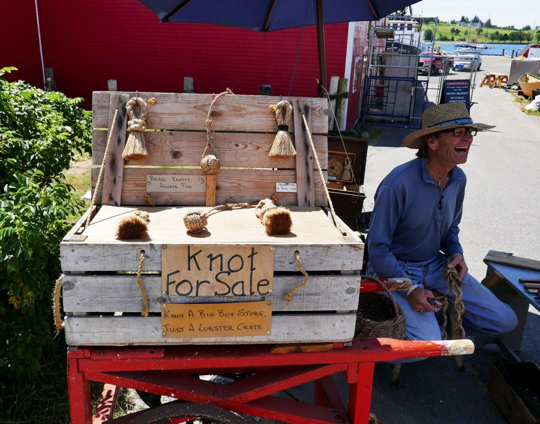 Knot for sale cart in Lunenburg for boomervoice