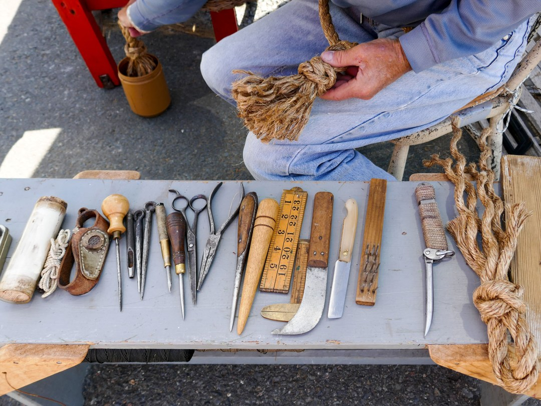 Knotting tools in Lunenburg for boomervoice