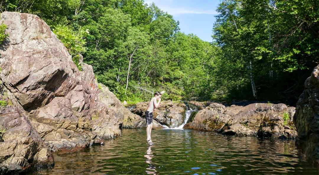 Swimming hole at Malignant Cove for boomervoice