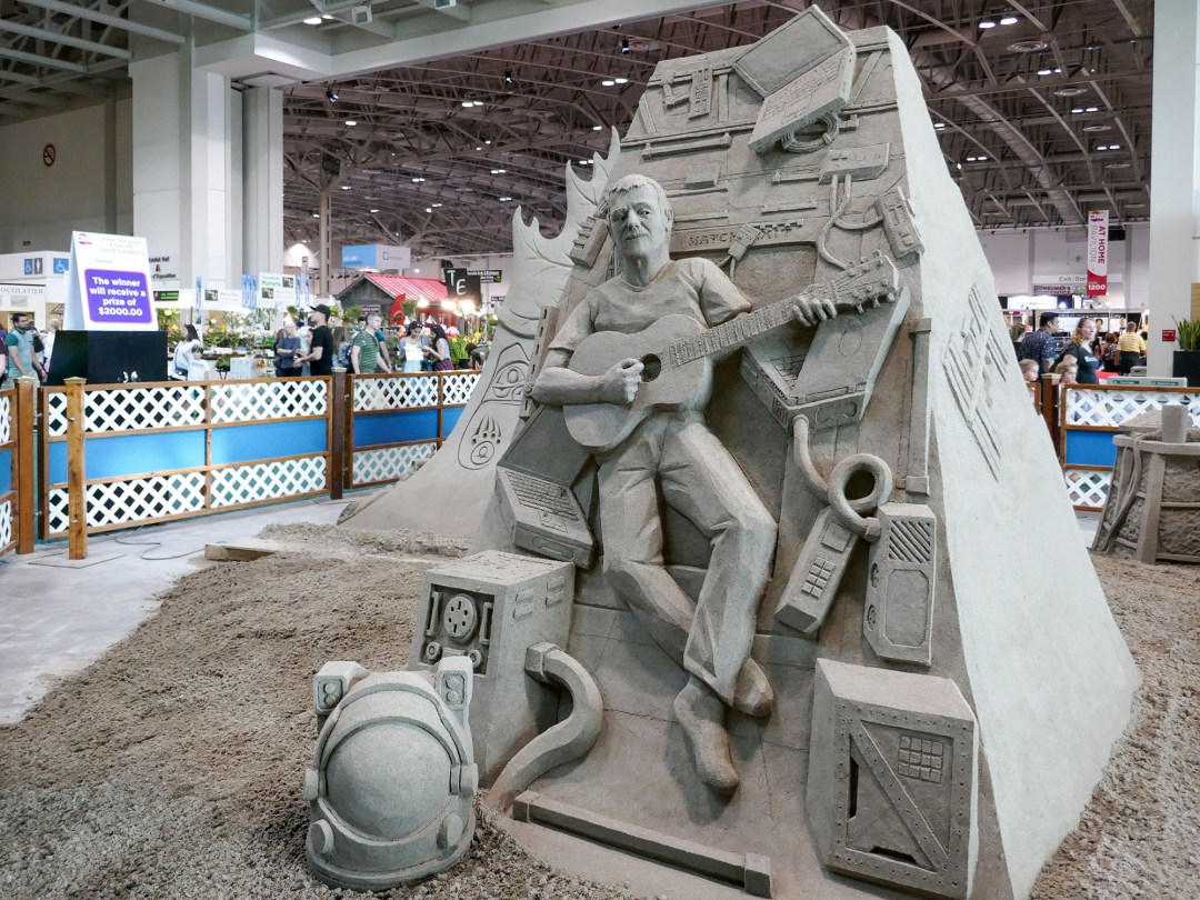 Chris Hadfield sand sculpture at CNE for bomervoice