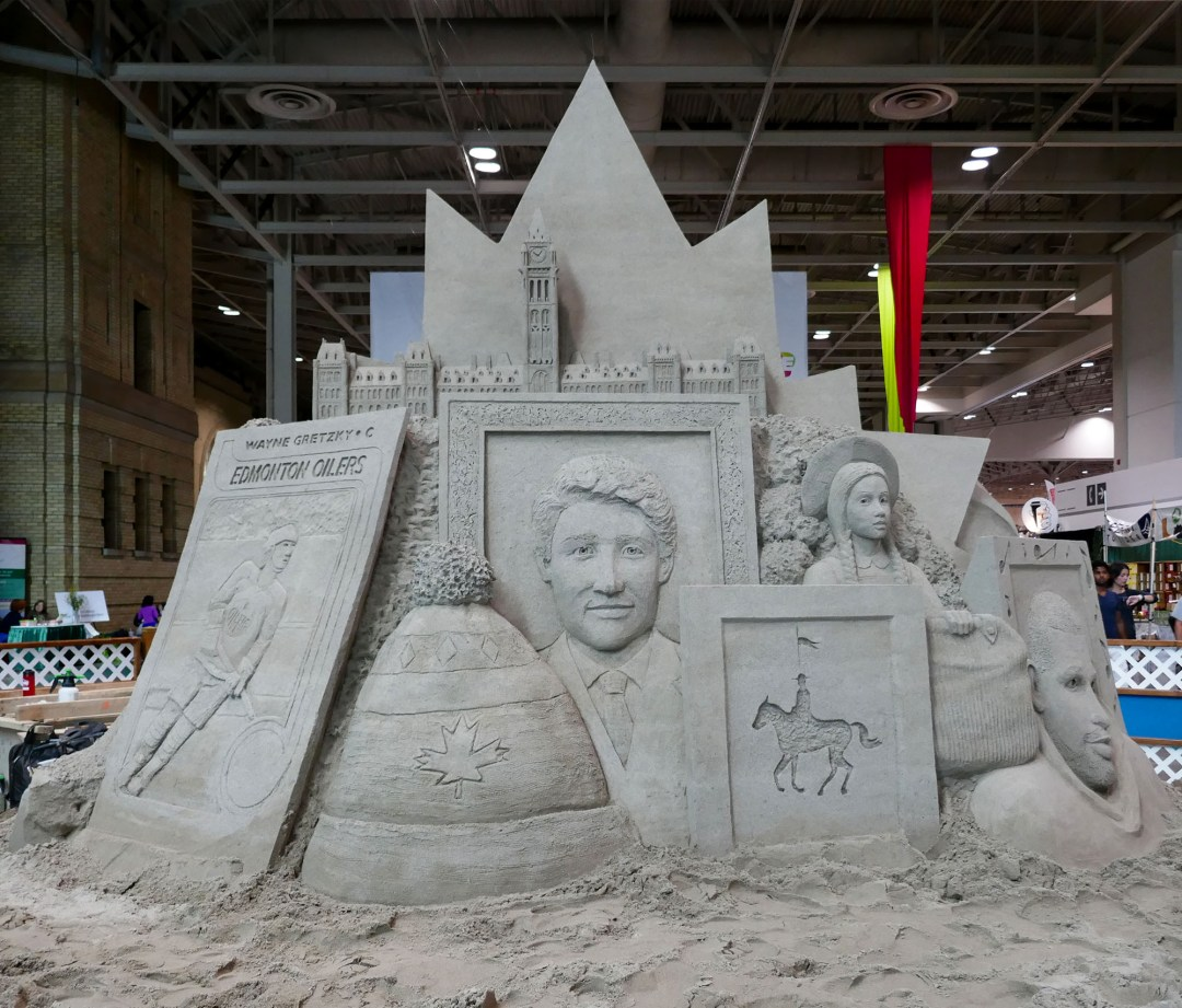 Images of Canada sand sculpture at CNE for bomervoice