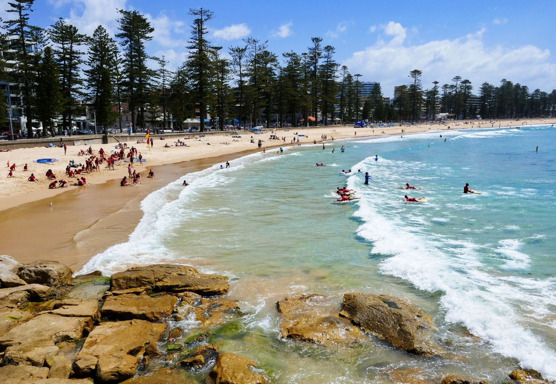 Surf School at Manly Beach for boomervoice