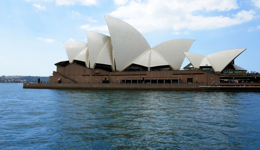 Sydney Opera House from the ferry for boomervoice