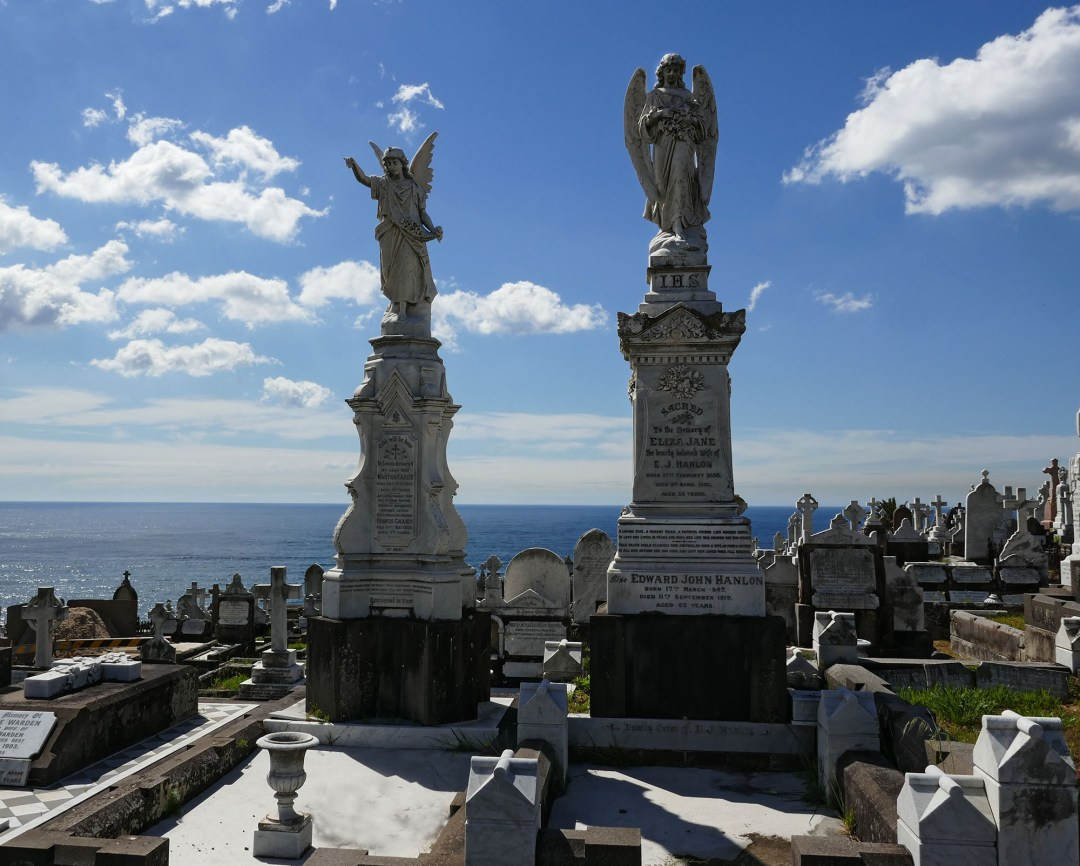 Waverley Cemetery on Coogee to Bondi walk for boomervoice