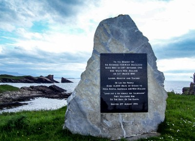 McLeod plaque in Scotland for boomervoice
