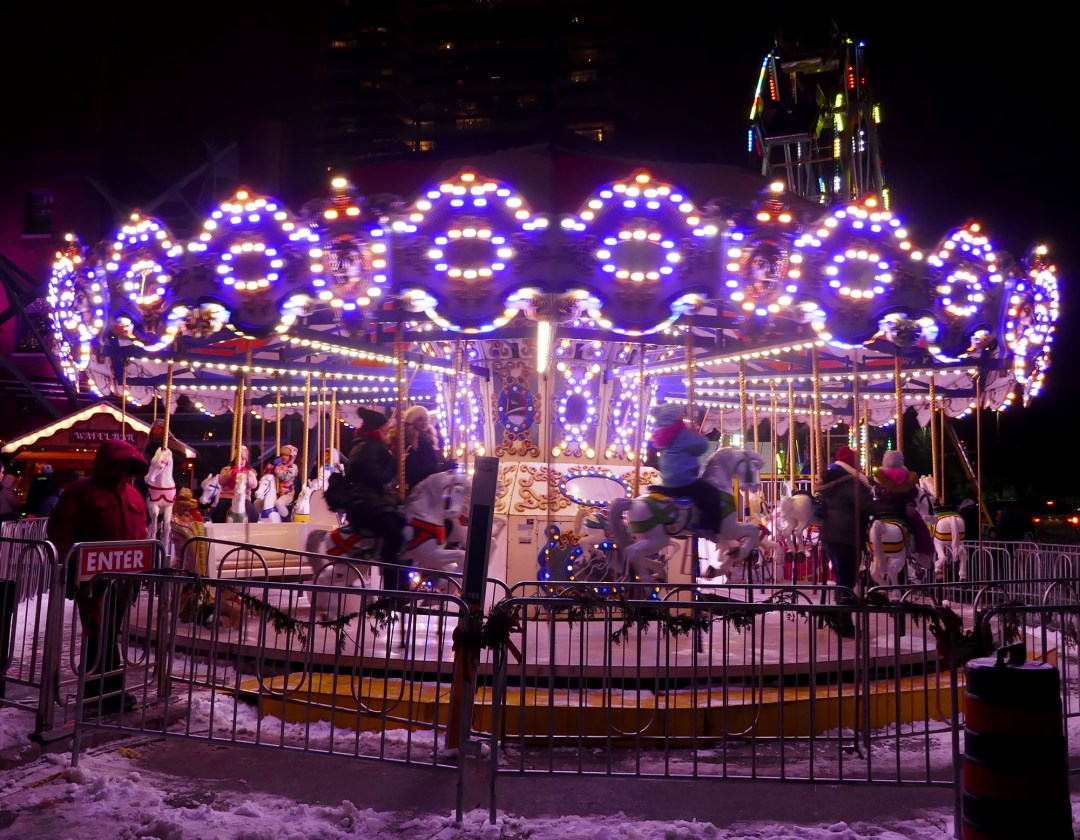 Merry go round at the Toronto Christmas Market for boomervoice
