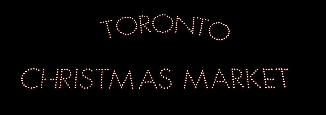 Toronto Christmas Market sign at the Toronto Christmas Market for boomervoice