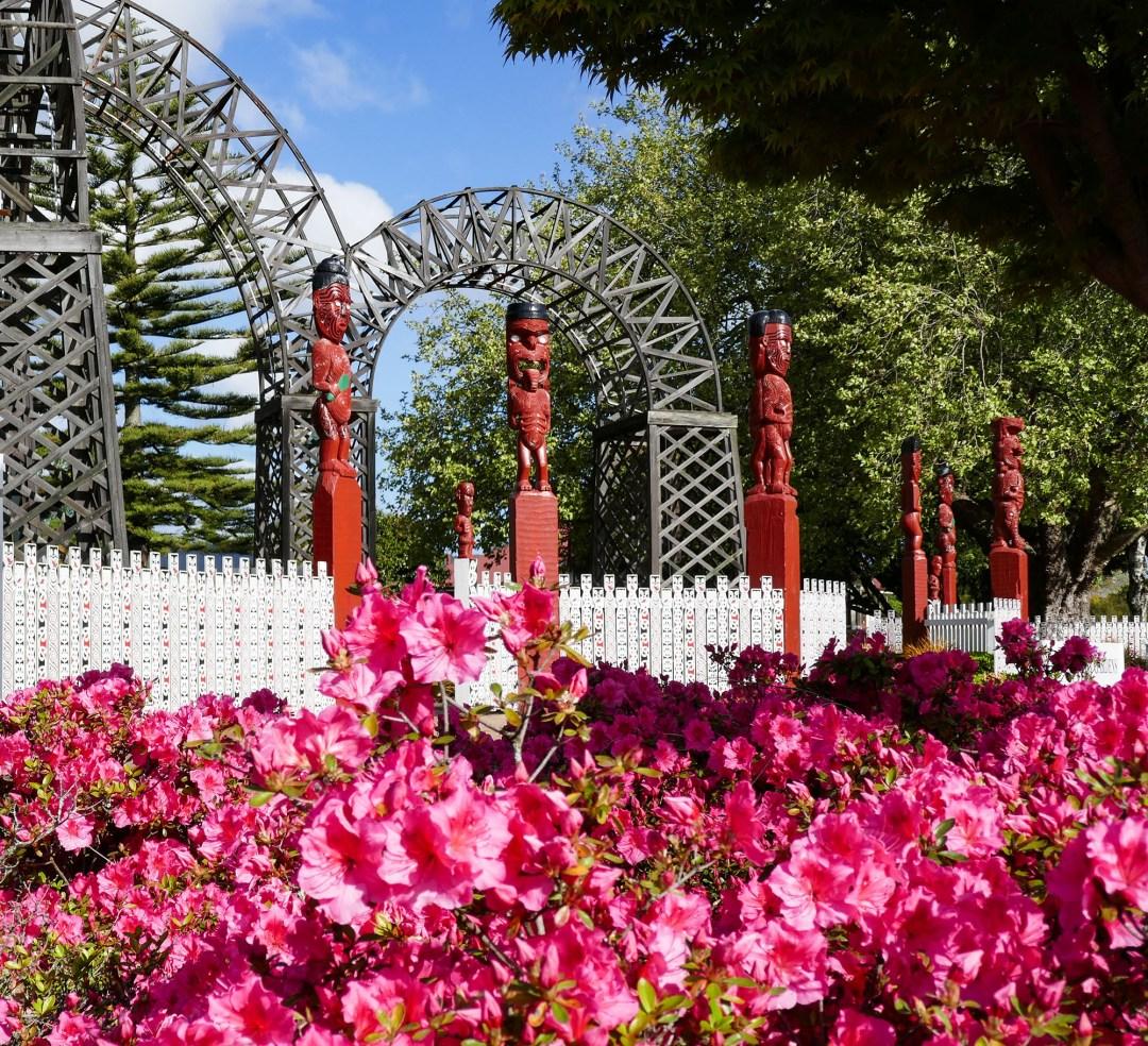 Entrance to Government Gardens in Rotorua for boomervoice