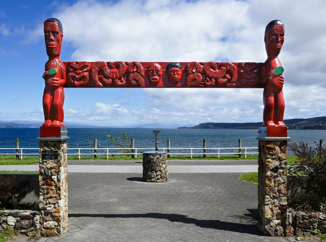 Lake Taupo carving for boomervoice